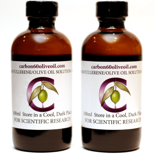 Two 100ml Bottles of Carbon 60 Olive Oil
